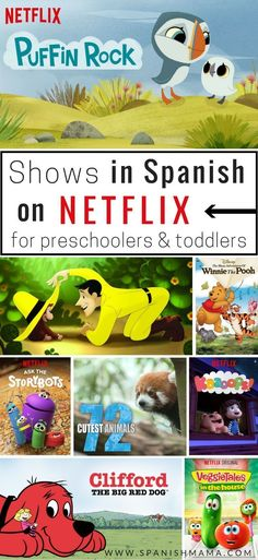Shows in Spanish on Netflix, for Kids. A list of bilingual series, cartoons, and programs all available on Netflix. #learnspanishforadultstips