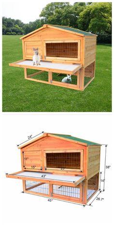 "45"" Chicken / Rabbit Cages #backyard #poultry #pets http://www.zosomart.com/pet-supplies/chicken-rabbit-cage/45-chicken-rabbit-house.html"
