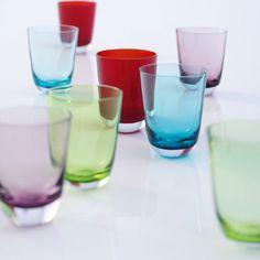 Glas Milo Set mit 4 Stück lila 300ml
