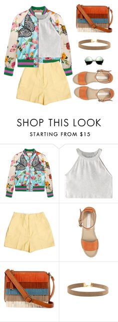 """""""Untitled #1673"""" by anarita11 ❤ liked on Polyvore featuring Gucci, WithChic, Retrò, See by Chloé, T-shirt & Jeans and Revo"""