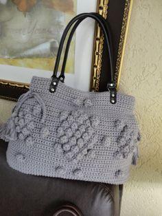 Toca do tricot e crochet: Bolsa de crochet Angelina Jolie !!!
