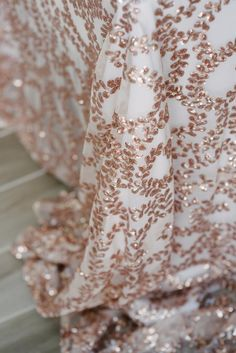 NEW Rose Gold Vine Sequin Tablecloth Rose Gold Wedding Ideas rose gold wedding Inspiration rose gold decor rose gold styling rose gold wedding theme rose gold wedding ceremony reception by Sail and Swan Dresses Elegant, Elegant Wedding Dress, Unique Dresses, Wedding Dresses, Rose Gold Wedding Dress, Modest Wedding, Gold Dress, Deco Rose, How To Dress For A Wedding
