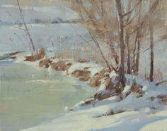 Marc Hanson Colorado plein air snowscape