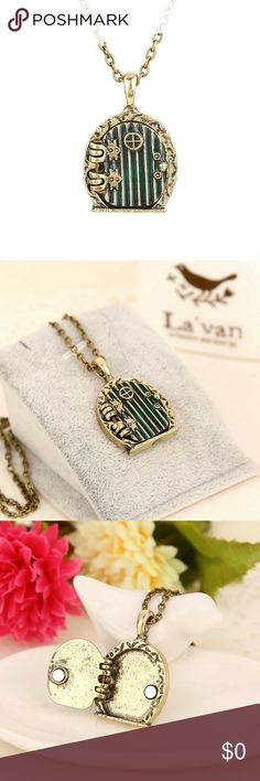 """Coming soon!!! Brand new """" The Hobbit"""" tree door locket necklace. Very unique! Great as a gift or for the earth lovers or movie lovers. Dont wait! Negotiate! The Hobbit Jewelry Necklaces"""