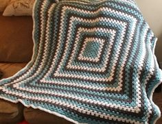 I made this blanket. It is a pinterest inspired pattern from Daisy Cottage Designs . Great crochet ideas from Lauren!