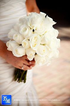 classic white rose bouquet - maybe add a little sparkle to them ;-)