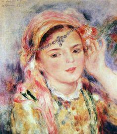 Pierre-Auguste Renoir  (1841-1919), Algerian Woman      Algérienne     The Little Algerian girl     Jeune Algérienne     Algerian Woman ...