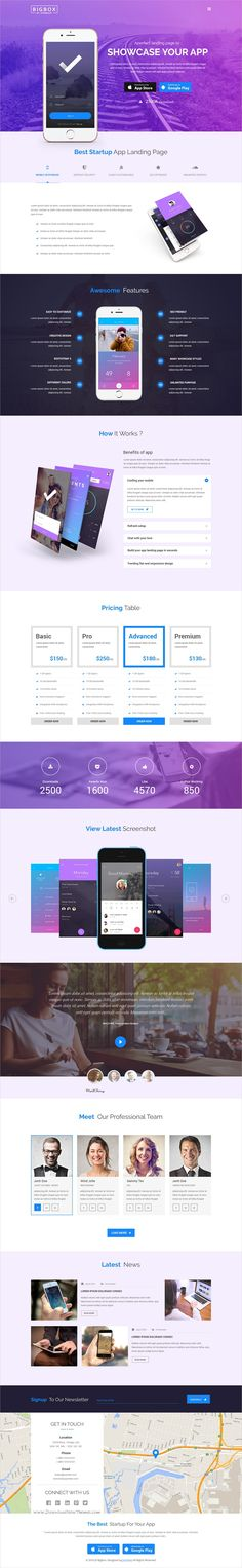 Bigbox is a wonderful #PSD template for stunning #app #landingpage websites with 13 multipurpose homepage layouts and 120 organized PSD pages download now➩ https://themeforest.net/item/bigbox-multipurpose-psd-template/19294025?ref=Datasata