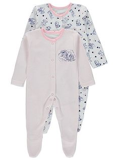 2 Pack Looney Tunes Sleepsuits, read reviews and buy online at George at ASDA. Shop from our latest range in Baby. Make their days snug and comfy with this s...
