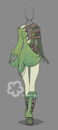 Typical Wood Elf outfit :: Elfish-ish Outfit - Auction open by Nahemii-san.deviantart.com on @DeviantArt