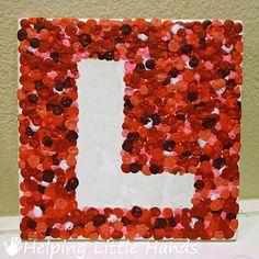 The L from Melted Crayon Dots LOVE Tiles from helpinglittlehands.blogspot.com