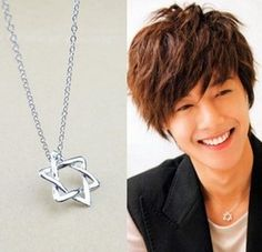 KPOP SS501 Kim Hyun Joong Mischievous Kiss Necklace