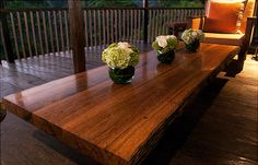 Luciw coffee table in reclaimed ironwood. Designed by DvdG for Kayu Naga.