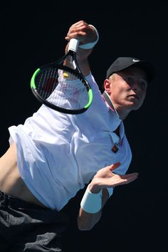 Day 1: Rudolf Molleker of Germany serves in his first round match against Diego Schwartzman of Argentina during day one of the 2019 Australian Open at Melbourne Park on January 14, 2019 in Melbourne, Australia.