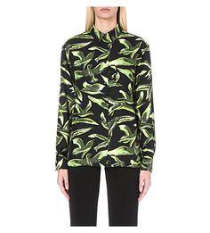 EMILIO PUCCI - Bird-print silk shirt | Selfridges.com