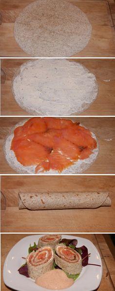 Herlig forret med røget laks og lækker pikantost :) Super simpelt, trin for trin.