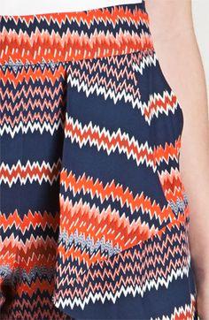 Parker Origami Ruffle Print Silk Shorts