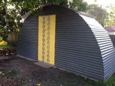 Garden shed from a trampoline frame.