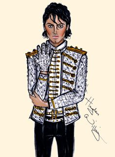 CELEBRITIES ☆ Michael Jackson 4th Anniversary (2013) - Illustration by Hayden Williams