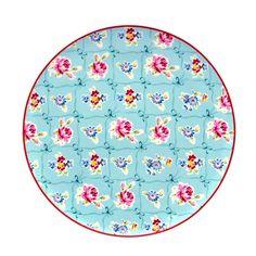 Jogo de pratos em porcelana para doces e sobremesas. www.casadaalice.com.br