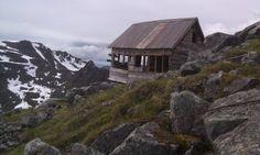Old mining cabin in the Talkeetna Mountains of Alaska.