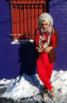 Red hijab style