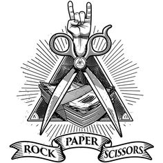 Rock Paper Scissors by Miroslav Kostic, via Behance
