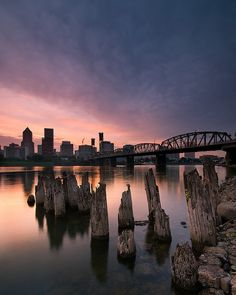 ~~Portland, Oregon ~ sweet sunset with a view of the city in the distance by Jesse Estes~~