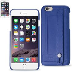 Reiko Iphone 6-6S 4.7Inch Genuine Leather Wallet Case With Hand Strap & Cinema Stand In Ultramarin
