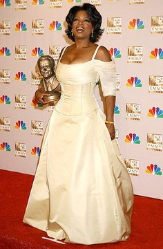Oprah Winfrey looked regal in a Bradley Bayou dress at the 2002 Emmys.
