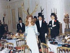 12/12/72 Marie-Hélène de Rothschild, member of the most powerful elite family in the world, held a Surrealist Ball at Château de Ferrières, one of the family's gigantic mansions. Baphomet welcomes you.