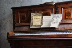 beautiful old piano in the former house of a film projectionist.  Lost Place Urban Exploration Berlin https://www.facebook.com/ForgottenHideaways Copyright by ForgottenHideaways