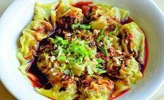 Sichuanese Wontons in Chilli Oil Sauce (_Hong You Chao Shou_)