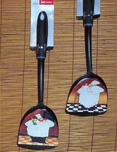 Fat Chef Wall Decor Utensils Bistro Waiter Kitchen New