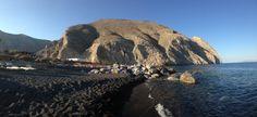 Lava beach at Santorini, Greece