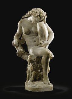 Jean-Baptiste Carpeaux - FRENCH 1827 - 1875. ÈVE APRÈS LA FAUTE (EVE AFTER THE FALL)