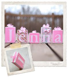 Wood Block Letter name using 5 letters by jennaevestutus on Etsy, $23.00