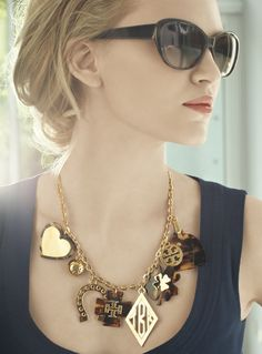 Tory Burch 'Tilsim' Equestrian Charm Necklace #MayCatalog