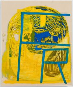 E J Hauser, FR (yellow), 2014, Mixed Media On Canvas, 24