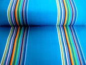 turquoise deck chair canvas 45cm striped fabric - Swimming stripe