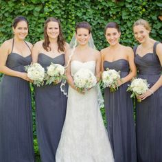 Pretty dark grey / charcoal bridesmaid dresses | Our wedding ...
