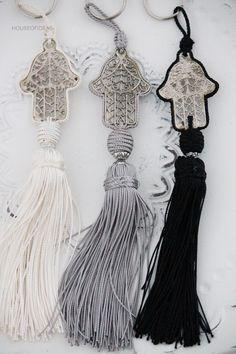 Moroccan hamsa tassels - hand of Fatima