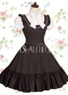 noire et blanche robe