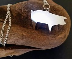 Silver Pig Necklace, Show Pig Pendant, Livestock Pendant, Silver Jewelry, Cattle Jewelry, Farm Animal Necklace, FFA Jewelry, Stock Show by BluegrassEngraving on Etsy