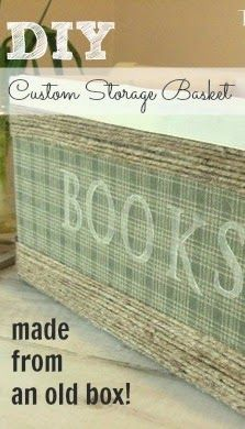 How to make your own custom-sized storage basket out of a cardboard box with The Creek Line House. Creative Storage, Diy Storage, Storage Baskets, Storage Ideas, Storage Hacks, Storage Boxes, Kitchen Storage, Old Boxes, Diy Box