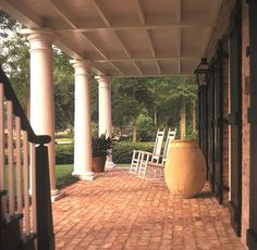 A Hays Town: love the columns and brick porch!