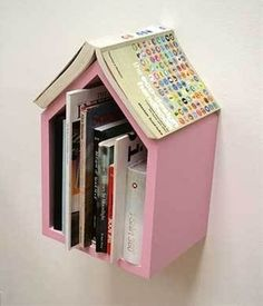 bookshelf by the bed that keeps your place. - Click image to find more DIY & Crafts Pinterest pins