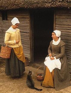 The following images are from the Plimoth Plantation. Interpreters portraying settlers of 1627. Plymouth Colony go about the daily chores of the…