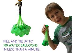 fill up 100 water balloons in seconds