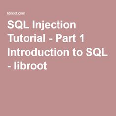 Crack wpawpa2 wi fi password in 7s on ubuntu 1604 using ht wps sql injection tutorial part 1 introduction to sql libroot fandeluxe Images